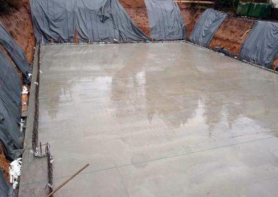 Fertigstellung der Bodenplatte