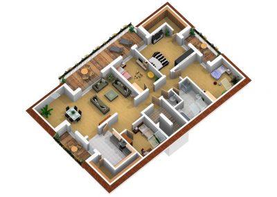 Grundriss DG Wohnung Nr. 5 und 6