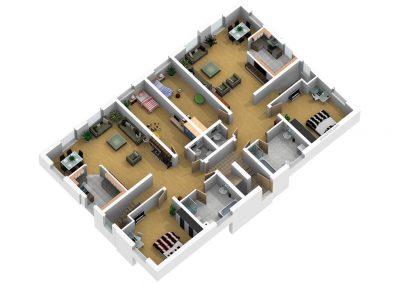Grundriss EG Maisonette Wohnung Nr. 1 und 2