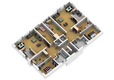 Grundriss OG Wohnung Nr. 3 und 4