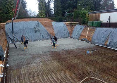 Vorbereitung der Bodenplatte