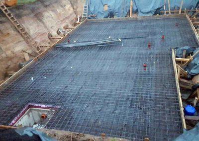 Vorbereitung der Bodenplatte 1